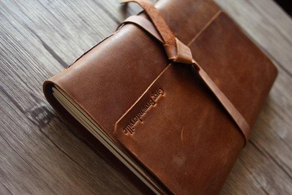 Photo Album Personalized Leather Albums Rustic Leather Guestbook Baby Photo Album Memory Album Custom Wedding Gift Album