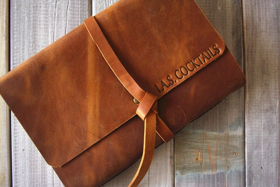 Leather Photo Album Anniversary Handmade Leather Scrapbook Etsy