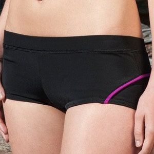 8dac85d41e Items similar to Boyshort bikini/Black cheeky fully lined bow ...