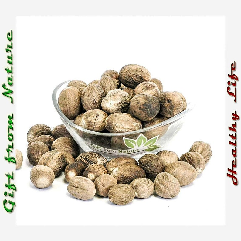 Nutmeg BERRIES 2oz (57g) Dried ORGANIC Bulk Myristica Fragrans Spices,  Available from /2oz-4lbs/