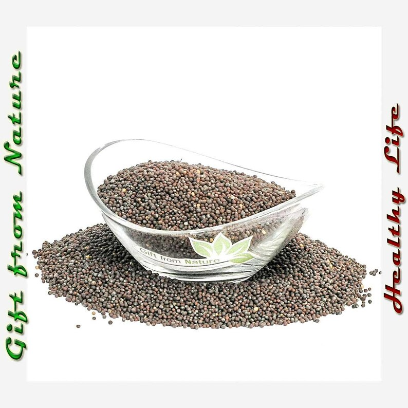 Black Mustard SEEDS 2oz (57g) Dried ORGANIC Bulk Brassica Nigra Spices,  Available from /2oz-4lbs/