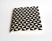 A5 size hand screen printed notebook sketch book stationary geometric print