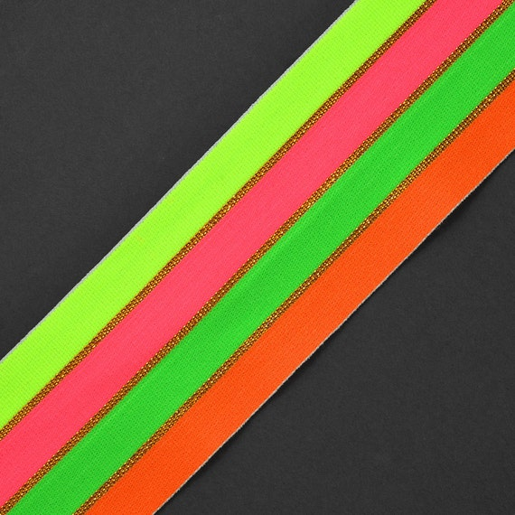 Rainbow LGBT Pride Sewing Green /& Red 40mm Striped Elastic Waistband