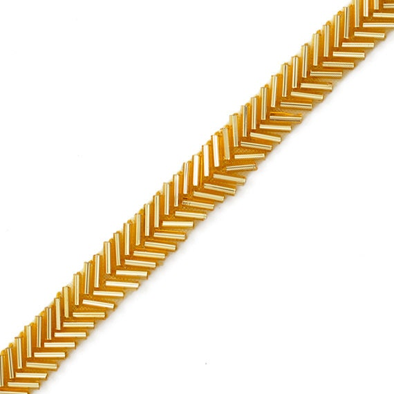 1 la rangs or perles garniture, garniture de mariage pour la 1 décoration de mariage, décoration, projets d'artisanat par 2-yards, FF-3624 b79c55