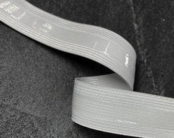 "1"" Non Slip Gripper Silicon Elastic Trim by 4-Yards, Black, White, TR-12231"