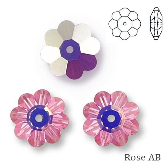 10 fleurs 6 mm érinite en cristal de swarovski. 3700