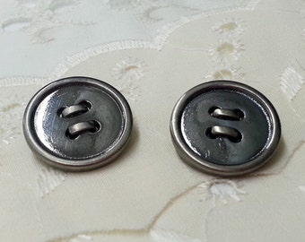 20mm Metal Button with Shank Back by 2 PCS, SP-2179