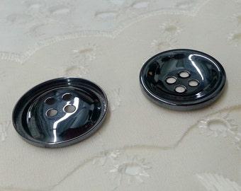 12 PCS 4-Hole Metal Button, Gunmetal, 22mm, SP-2195