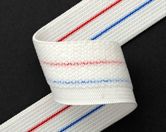 Elastic Stretch Ribbon Trim for underwear, pajama elastic,  1-1/8 Inch by 2 yards, WHITE, SP-2044
