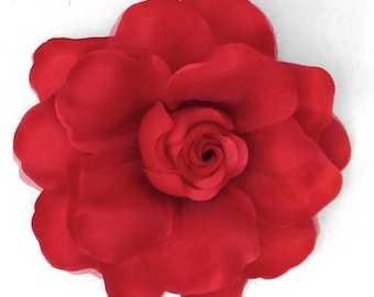 """6"""" Flower Clip Pin for Headband, Dress and crafts by 1 pc, 5 colors, FL-1020"""
