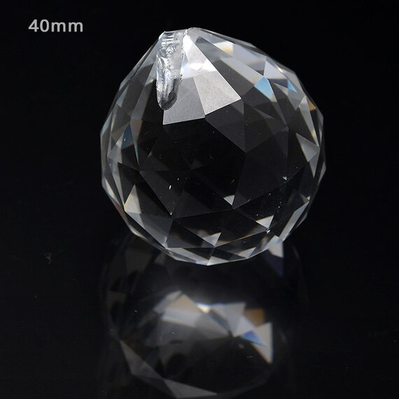 1Pc Clear Crystal Feng Shui Lamp Ball Prism Rainbow Suncatcher 50MM Decor Hang