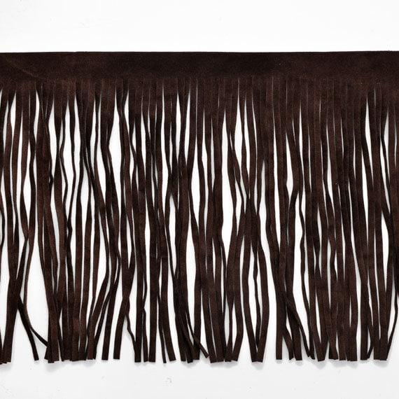 TR-11138 Black Fringe 4-Yards 1-5//8 Vintage Cotton Trim