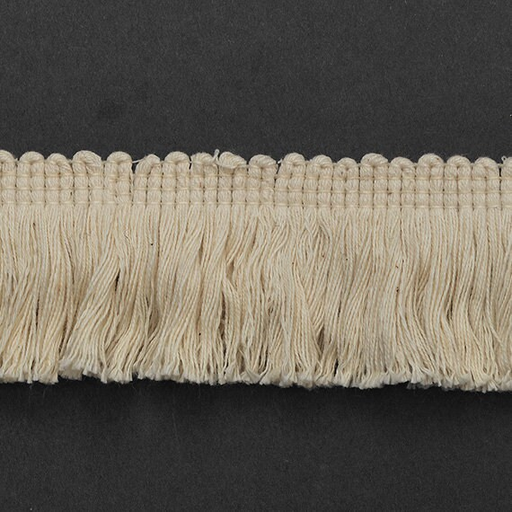 Decorative Cotton Fringe Trim by 4-Yard 20mm 3//4 TR-11139 Black