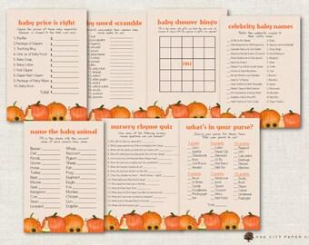 Halloween Themed Baby Shower Games.Baby Shower Games Pumpkin Etsy