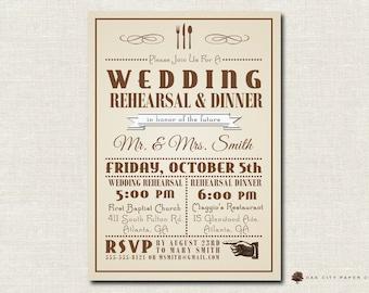 Rehearsal Dinner Invitation Template