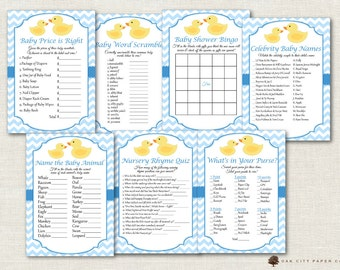 Rubber Ducky Baby Shower Games - Rubber Duck Baby Shower Games, Ducky Baby Shower Games, Baby Shower Games, Rubber Ducky Baby Shower, Blue