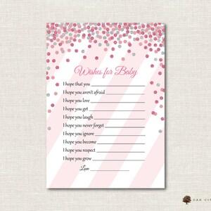 Baby Shower Game vœux pour bébé Bleu Rose Garçon Fille Disney Dumbo Unisexe faveur 1