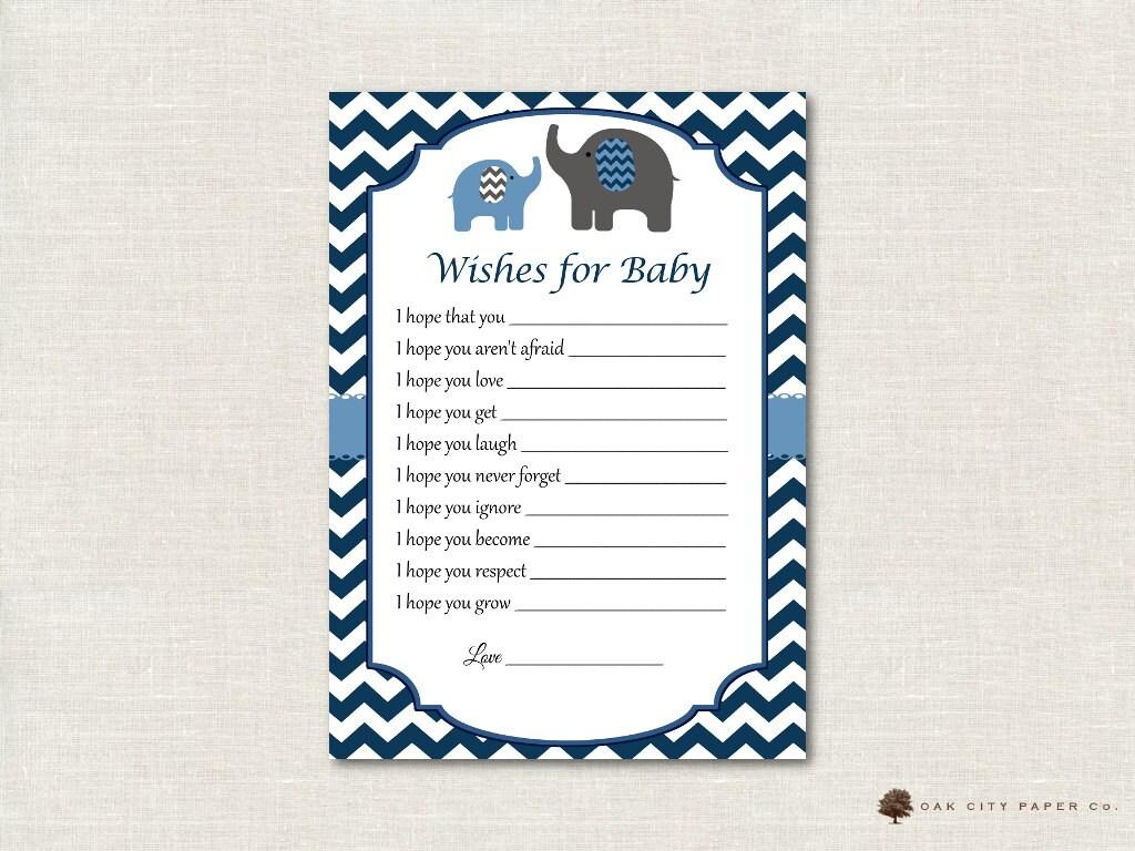 Deseos de elefante para bebé deseos para el bebé tarjeta | Etsy