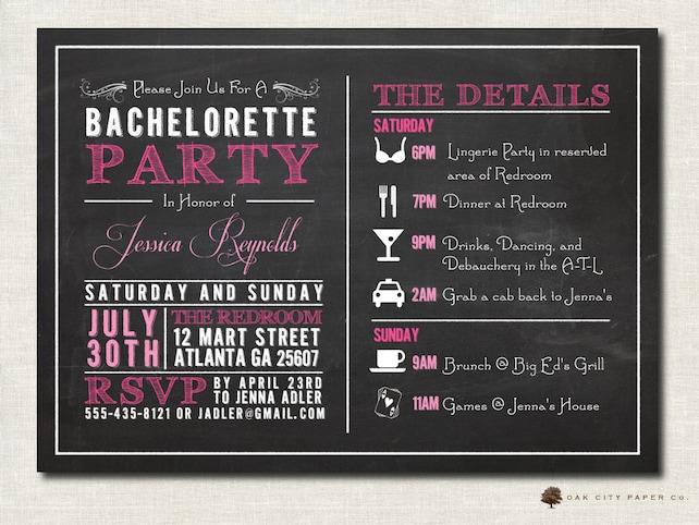 Bachelorette Invitation Bachelorette Party Invitation   Etsy