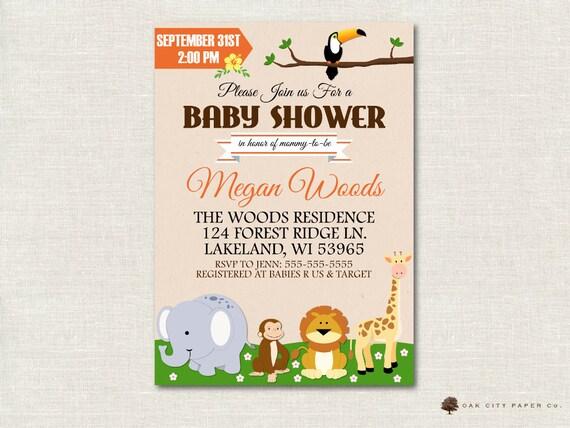 Safari baby shower invitation jungle shower invitation etsy image 0 filmwisefo