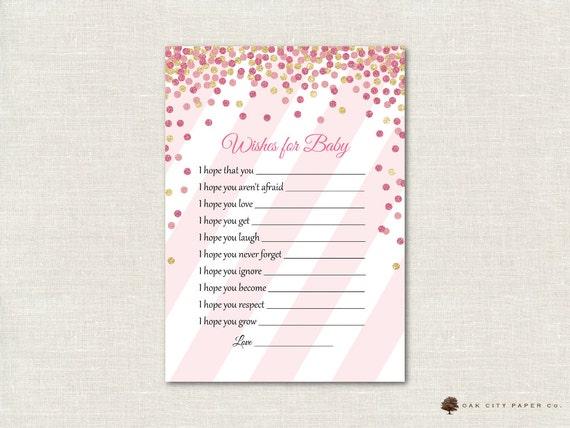 Voorkeur Roze en gouden wensen voor de Baby wensen voor goed wensen | Etsy #IO32