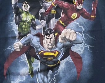 Shirt L Sons of Gotham JLA Engaged Adult Ringer T