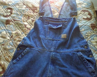 Overalls, Bibs, size 42waist, 32 length, work ware, farm cloths, vintage cloths, 100 percent cotton