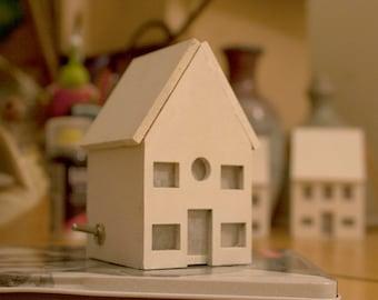 Little Lasercut House, Night light, Wood, with Toggle Switch & RGB LED.