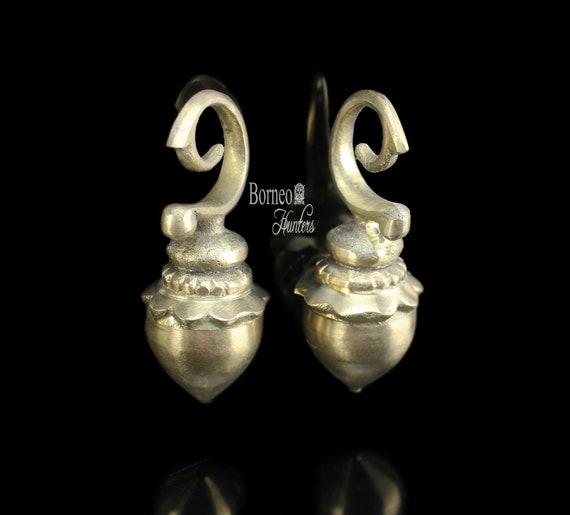 Borneo Smaller Brass Aso Ear Weights