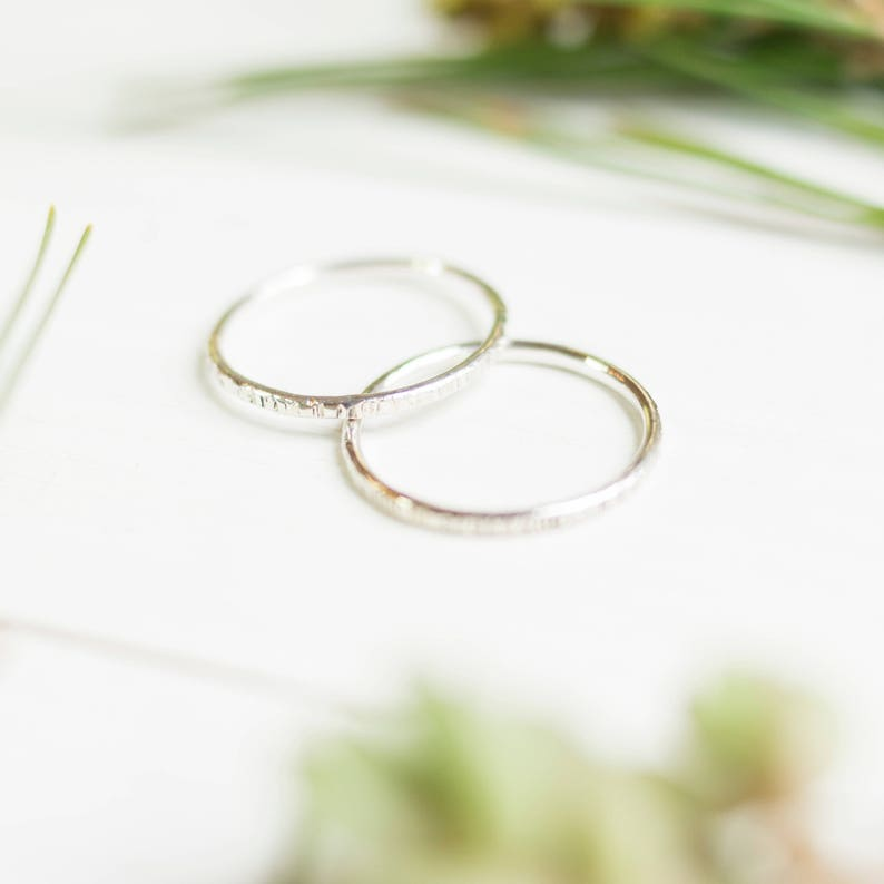 sterling silver stackable ring silver ring dainty simple silver stackinig ring silver rings for women minimalist jewelry rings for men