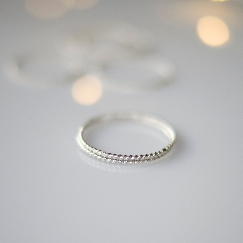 Stackable Silver Ring Dainty Sterling Silver Ring Thin Silver Ring for Women Secret Santa Gift for Women
