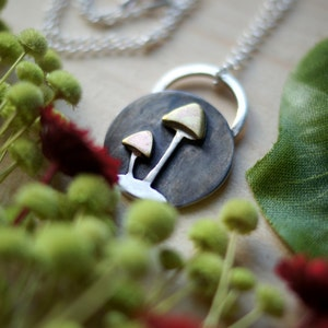 Handcrafted 3D Mushroom Necklace  Eco Recycled Sterling Silver 925  Made to Order  Artisan Silversmith Metalsmith