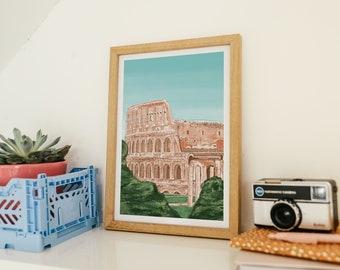 Colosseum rome art print, Rome art print, Rome, Rome poster, Rome art, Roman Colosseum, Colosseum Rome, Rome Italy, Colosseum poster, Roma