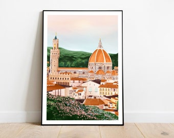 Florence art print, Florence Italy Art, Cathedral of Santa Maria del Fiore art, Italy wall art, Florence Italy print, Florence travel