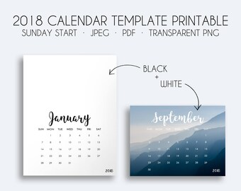 2018 calendar template printable calendar template transparent png overlay calendar template 2018 sunday start free commercial use