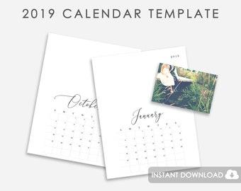 calendar 2019 etsy