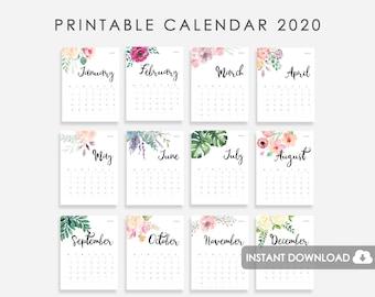 Calendario 2020 2020.2020 Calendar Etsy