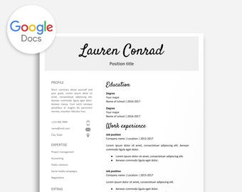 resume template google docs cover letter google docs etsy