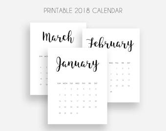 2018 calendar Etsy