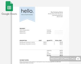 Printable Invoice Etsy