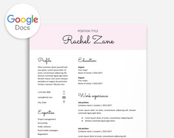 Editable Resume Google Doc Cv Template Download Docs