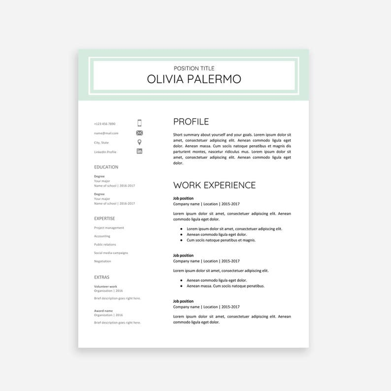 Resume Template Google Docs 6x Bundle