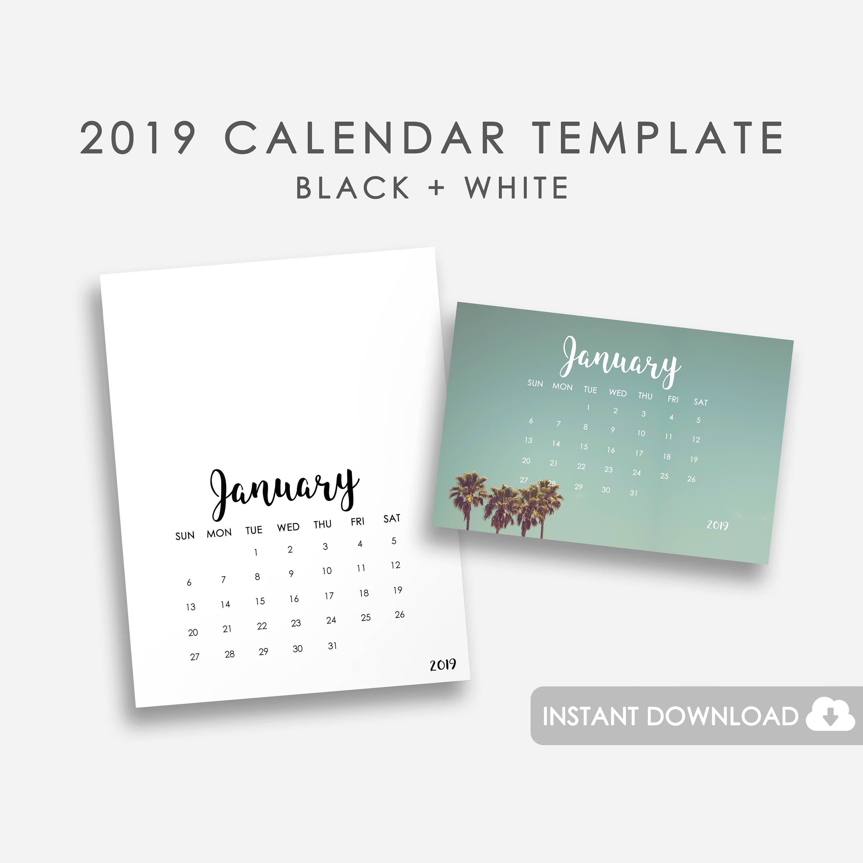 2019 Kalendervorlage Printable 2019 monatlichen