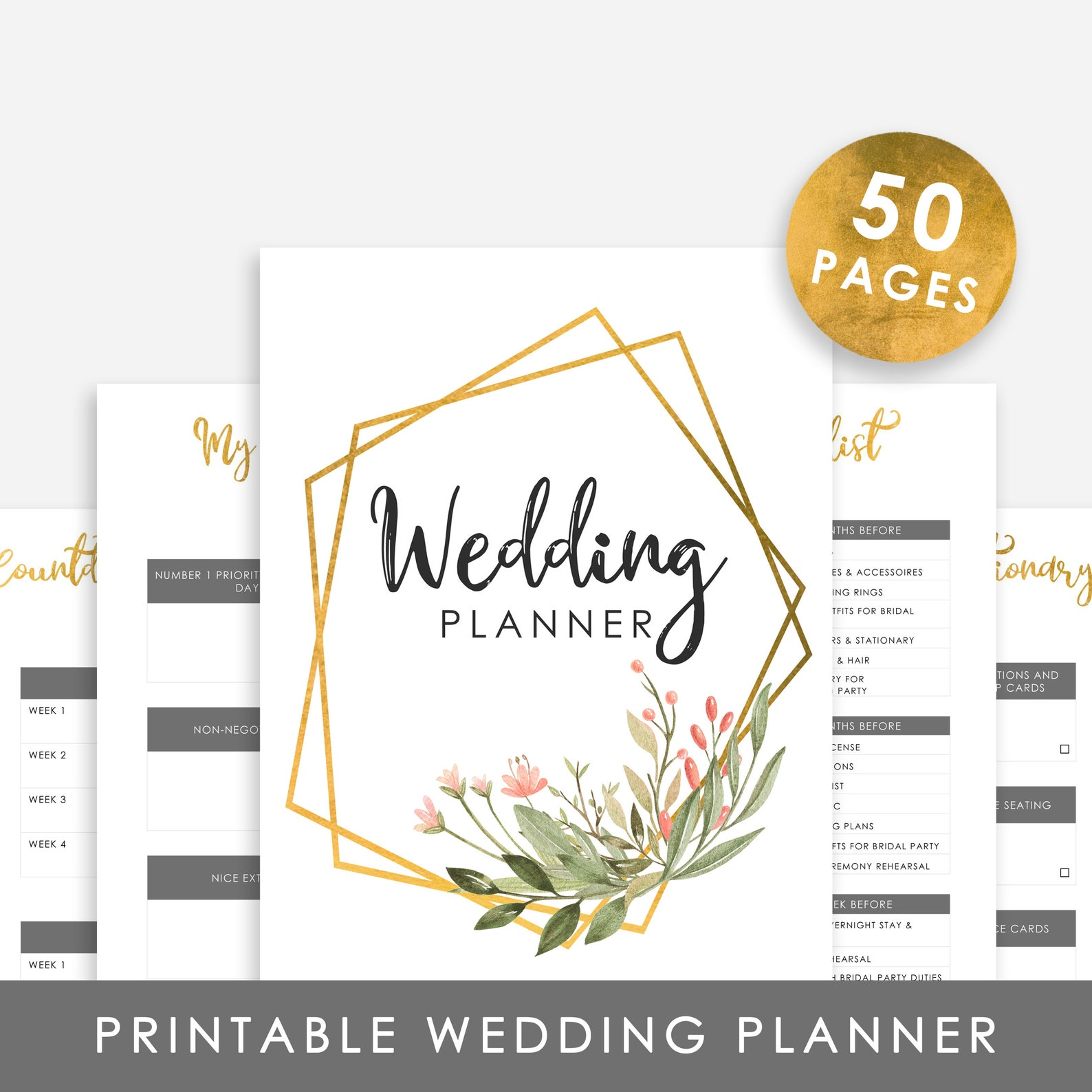 Wedding Planner 50 Pages