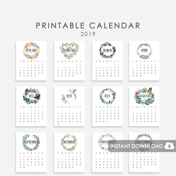 Kalender 2019 Aquarell Blumenkr 228 Nzen Aquarell Blumen 2019