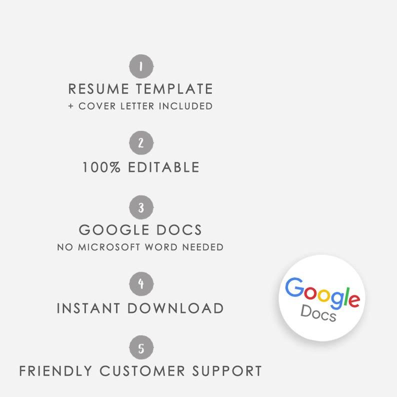 Resume Template Google Docs Cover Letter