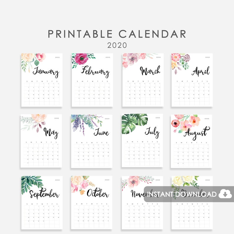 Quotes Teacher Calendar 2019 2020: 2020 Calendar PRINTABLE Desk Calendar 2020 2020 Wall