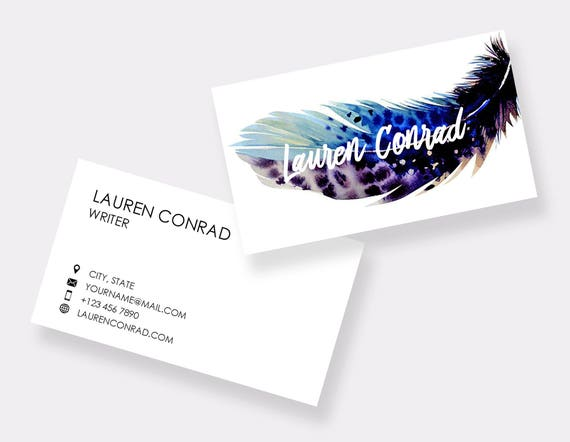 Business Card Template Printable Business Cards Etsy