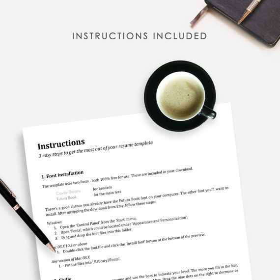 Resume Template, Cover Letter Template, Printable Resume Word Document,  Fully Editable Professional CV, Instant Download, Resume Package Pro