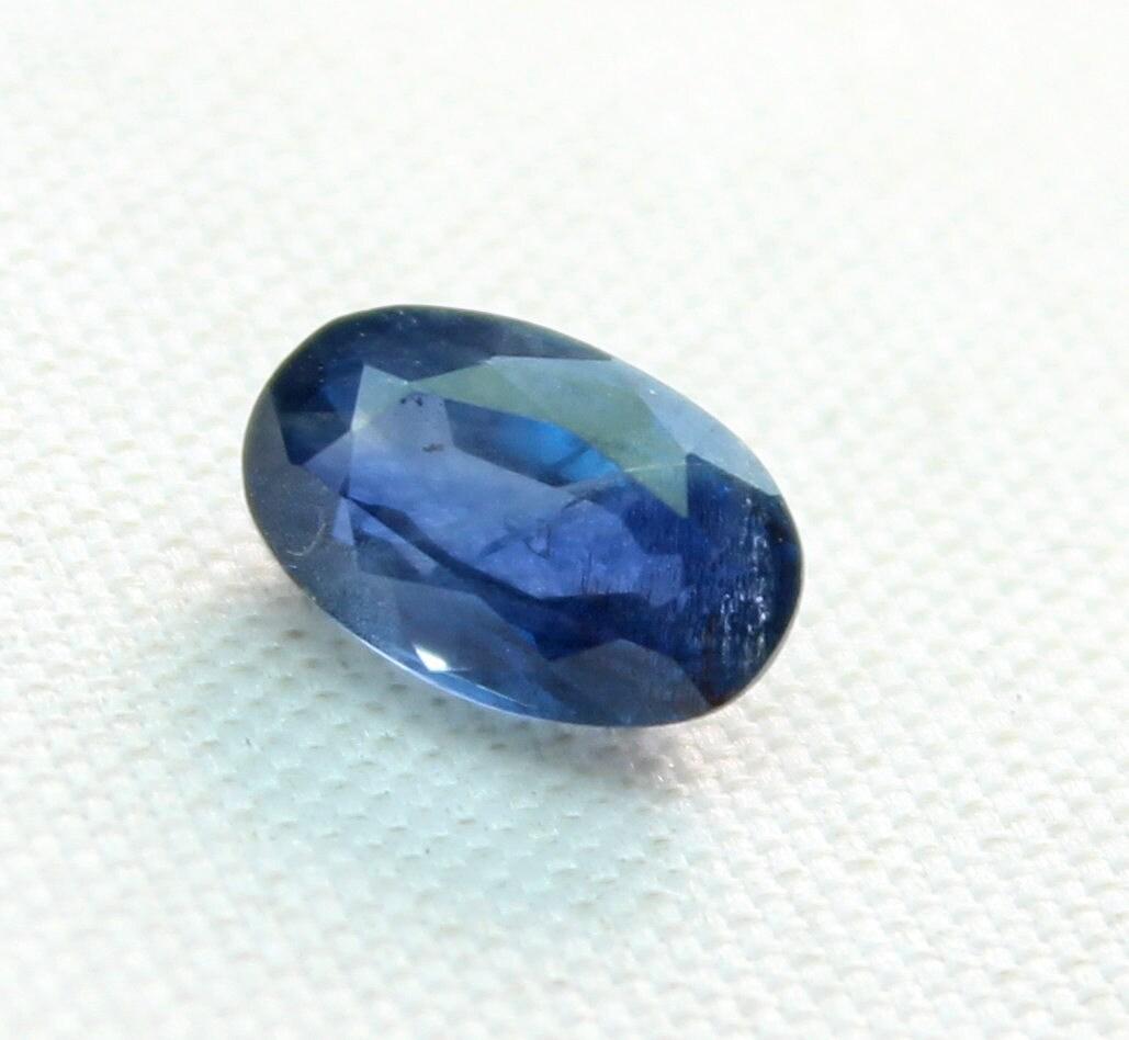 1.00 carat saphir saphir saphir bleu naturel à facettes coupe pierres précieuses en vrac taille 7 mm x 4,50 mm x 3,15 mm env. 0035 36a514